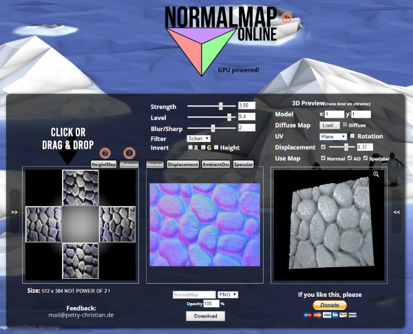 NormalMap Generator Online - Released Scripts and Themes